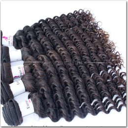 Wholesale Remy Eurasian - 5A Grade Human Hair Deep Wave Queen Virgin Brazilian Peruvian Malaysian Indian Cambodian Eurasian Remy Hair Bundles