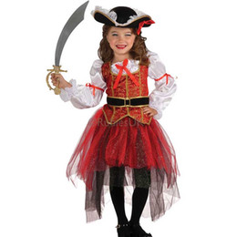 Wholesale Girls Tweed Dress - Halloween Performance Baby Girls Dress Cosplay Party Kids Dancing Costume Accessories Children's Day Props Festive Supplies SD638