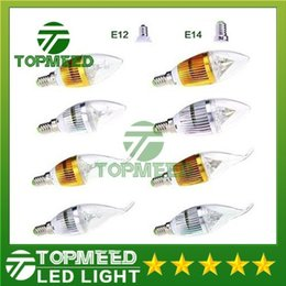 Wholesale High Power Led Candle Bulb - Dimmable 9W Cree LED Candle bulb E14 E12 E27 light lamp high power led downlight led lamps chandelier lighting 110-240V CE ROHS 30