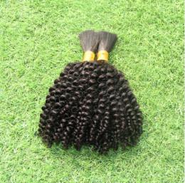 Wholesale Machine Attachments - 2015 new braiding hair bulk 7A grade brazilian kinky curly human hair extensions 3pcs lot free shipping
