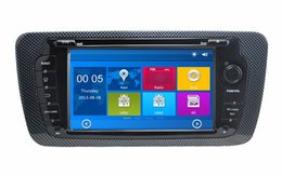 """Wholesale Rear Seat Dvd Player - HD 2 din 7"""" Car Radio Car DVD Player for Seat Ibiza 2008-2013 With GPS Navigation Bluetooth IPOD TV SWC USB AUX IN + Can bus"""