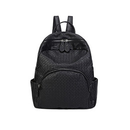 Wholesale Backpack Studs - weaven leather unisex backpack Girls Faux Leather Backpack Bookbag Campus small horse stud daily backpack travel sport aibaobao