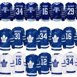 Wholesale Cheap Toronto Maple Leaf Jerseys - 2017-2018 Season Toronto Maple Leafs 16 Mitch Marner 29 William Nylander 34 Auston Matthews 31 Frederik Andersen Hockey Jerseys Cheap