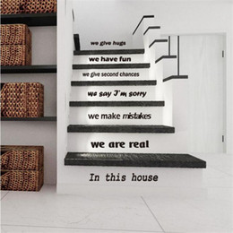 Wholesale Vinyl Stairs - IDFIAF 1PCS DIY Wall Stickers Stairs Decal Home Decor Restaurant Decoration 3D WallpaperWall Art Free shipping