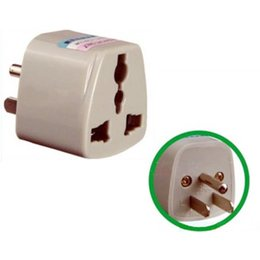 Wholesale Uk Standard Adapter - Wholesale Free Shipping 1 Piece EU UK AU to US Travel Plug Convertor Universal Travel Power Adapter Plug AC For US Standard