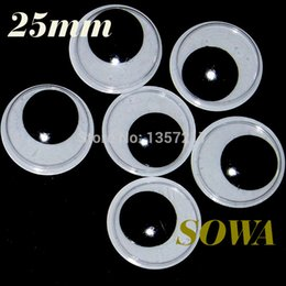 Wholesale Eyes 25mm - Free Shipping New Size 25mm 300PCS Black And White Oval Design Imitate Animal Eye Dolls Eye For DIY Toy