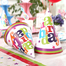 Мультфильм принцесса принц онлайн-Мультфильм Цвет Детские День Рождения Шапки День Рождения Принцесса / Принц Косплей Дети Шляпа Праздничный Рождество Дети Подарок