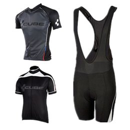 Wholesale Cube Cycling Set - Wholesale-2015 CUBE cycling jersey bike set ropa ciclismo short sleeve bib shorts MTB bike jersey high quality maillots fitness clothes