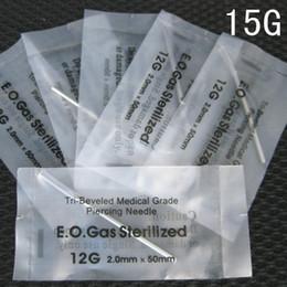 Wholesale Piercing Sterile Tools - 100PCS Sterile Steel Piercing tools kit Body piercing needle15G size Separate Separate Professional Piercing needles