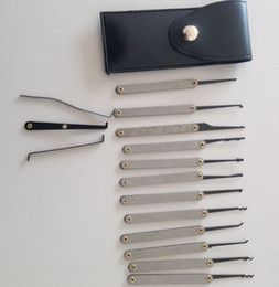 Wholesale Unlock Doors - Hot Sale 12pcs Lock Picks Sets Stainless Handles Removing Key Set Lockpick Locksmith Tools Lock Opener Unlock Door free shipping