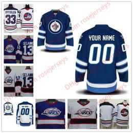 Wholesale Winnipeg Jersey - Stitched Custom Winnipeg Jets mens womens youth kids OLD BRAND royal Blue White Third Personalized Ice Hockey cheap vintage Jerseys S-4XL
