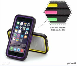 Wholesale Film Belt - Military Hybrid Heavy Duty Cover Defender Case Cover With Kickstand Belt Clip PC & Silicone+Screen Film For iPhone 6 6s 6 plus