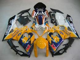 Wholesale Custom Fairings For Motorcycles - Custom motorcycle fairing kit for yellow blue Suzuki GSX-R1000 05 06 GSX-R GSXR 1000 K5 2005 2006 Corona cowlings