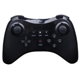 Wholesale Pro Usb Cable - Black White Wireless Classic Pro Controller Gamepad with USB Cable For Nintendo For Wii U