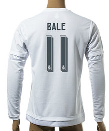 Wholesale Cheap Athletic Shirts - Thai Quality Customized 15-16 New season men Long sleeve 11 Bale Soccer Jerseys shirts,Cheap Athletic 10 JAMES 11 BALE TOP Soccer Wear tops