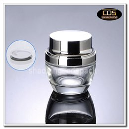 Wholesale Glass Cosmetic Jars Lids - wholesale 50g clear glass cream jars with silver or golden lid , glass 50 g cosmetic jar empty , 50ml clear cosmetic glass jar
