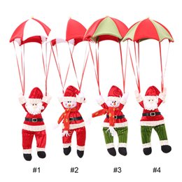 Wholesale Cartoon Christmas Ornament - Christmas Decorations Hanging Christmas Decorations Parachute Santa Claus Snowman Ornaments For Christmas Indoor Decorations Gift 0708110