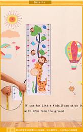 flores 3d de plastico para pared Rebajas 24 * 75 cm Los niños crecen pegatinas de pared de altura 3D fondos de pantalla tatuajes de pared Niños extraíble novedad niños wallpaper de la habitación J072304 # DHL