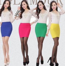 Wholesale Skirt Color Candy Women - Women Striped Skirt New Fashion Candy color Sexy Slim Hip skirt dress skirts