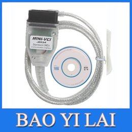 Wholesale Toyota Mini Vci Obd2 - Wholesale-MINI VCI Interface FOR TOYOTA TIS Techstream V8.10.021, MINI VCI J2534 OBD2 diagnostic tool Car Code Scanner