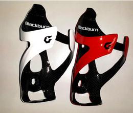 Sostenedores de botella de agua de carbono negro online-Botella BLACKBURN carbono soporte para botella de agua de la bicicleta de la jaula del camino MTB Bicicleta de montaña jaulas llenas de fibra de carbono Ciclismo Accesorios Negro Rojo Blanco