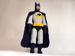 Wholesale Superheroes Plush Toys - Batman CROCHET toy PATTERN   Batman amigurumi pattern   DIY Batman doll   amigurumi design for comic superhero   gift idea for boys