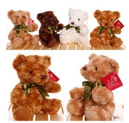 Wholesale Kawaii Bows - Cute Teddy Bear Dolls Russ Bow Tie Small Teddy Bear Plush Toys Kawaii Kids brinquedo Gifts Toys For Children 20CM