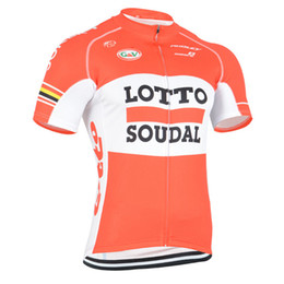 Wholesale Tour France Cycling Tops - 2017 new Lotto Men Cycling Jersey tour de france mtb bicycle maillot Ropa Ciclismo quick dry summer style Bike clothing D0106