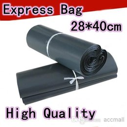 Wholesale Plastic Courier Bag Envelopes - 28*40cm Gray Poly Self Adhesive Courier Bag Plastic Envelope Express Shipping Bag Self-seal Mail Bags Courier Post Postal Mailer Bags