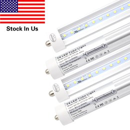 Wholesale T8 Tube Light Clear Cover - T8 8FT 45W LED Tube Light, Single Pin FA8 Base,6000K Cold White,8 Foot Fluorescent Bulbs 90W Replacement, Clear Cover, Dual-Ended Power