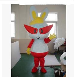 Новый мультфильм костюмы очки кролик талисман костюм необычные платья наряд Бесплатная доставка от Поставщики мультфильм очки кролик
