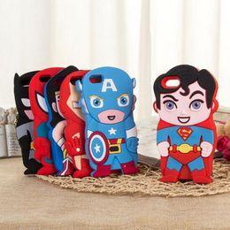 Canada 3D Cartoon Venom Ironman Capitaine America Spider Superman Bat Homme Batgirl Superhero Comics Housse En Caoutchouc Pour iPhone 4 4S 5 5S iPod Touch 4 5 Offre