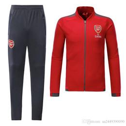 Wholesale Uniform Coats - hot 2017 2018 Gunners ALEXIS Jacket training coat 17 18 OZIL WILSHERE GIROUD LACAZETTE tracksuits Uniform Sport Training jacket set