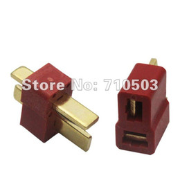 Wholesale Male Female Plug Connectors - 10pair  lot new arrival Dean Connector Deans Female Male T plug For ESC Battery Lipo Battery