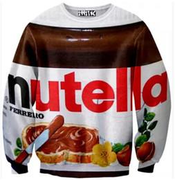 Alisister invierno mujer / hombre Nutella sudaderas novedad ropa impresa 3d sudadera con capucha de chocolate sudaderas con capucha harajuku espacio punk desde fabricantes