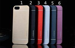 Wholesale Iphone 5s Aluminium - Luxury Ultra thin MOTOMO Metal Aluminium Alloy Case Tough Back Cover for iPhone 6 6s 6plus 5 5s Samsung s6 Edge Plus S5 Note5 Note4 Note3