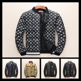 Wholesale Windbreaker Button Down - 2018 Luxury Fashion Brand Long Sleeve Print Men Casual Windbreaker Hooded Tiger Printing Medusa Silk Jacket down coat