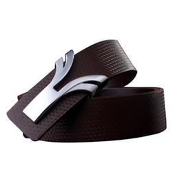 Wholesale Discount Brand Belts - 2016 belts for men Luxury Belt For Men Leather Alloy Fashion Smooth buckle Famous Men Brand Belts Discount Designer Belts High quality