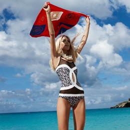 Wholesale Xl Swim Suits - 2017 new brand designer women swimwear plus size maios one piece M L XL girl swim suit spandex for beach swimming free shipping