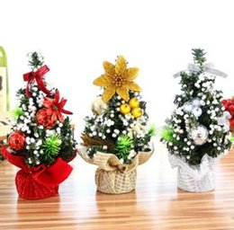Wholesale Articles For Children - Mini Christmas tree gifts for children desktop furnishing articles decorative supplies the Christmas tree 20 cm sweet beautiful