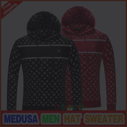 Wholesale Men Red Cardigan Sweater - New autumn Medusa Set sweater fashion Leisure Men sweater Hoodies clothing red black man brand sweater Cartoon embroidery Men shirt M--3XL