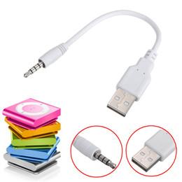 oro nakamichi Rebajas 3.5mm audio AUX a USB 2.0 Cable adaptador de cable de carga de sincronización de datos masculinos para iPod shuffle de segunda generación MP3 MP4 Línea de cable de audio