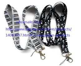 Wholesale Free Music Keyboard - free shipping - Wholesale - 10pcs Music Piano keyboard Chains Mobile Cell Phone Lanyard Neck Straps Favors S#41