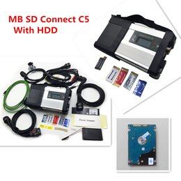 Wholesale Compact Diagnosis - 2017 New arrival MB SD Connect Compact 5 with HDD software V2017.05 mb star c5 with wifi Mulit-Languages For MB diagnosis tool