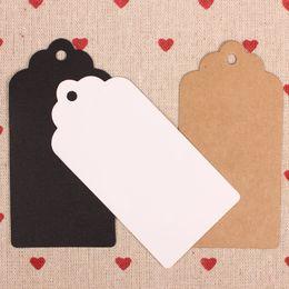 Wholesale Kraft Stocks - free shipping handmade 10x5cm stock rectangle blank kraft garment hangtag,jeans hangtag