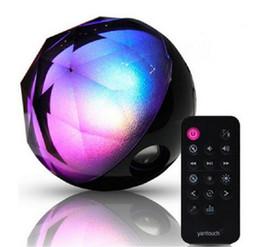 Wholesale Mini Speaker Remote Control - Q8 Magic Crystal Ball Mini Wireless Bluetooth Speaker Colorful LED Portable HIFI Bass Sound Card Handsfree Soundbox FM With Remote Control