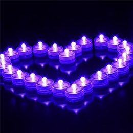 Wholesale Flameless Tea Lights Blue - 10pcs lot Romantic Waterproof Submersible LED Tea Light Electronic Candle Light for Wedding Party Christmas Valentine Decoration