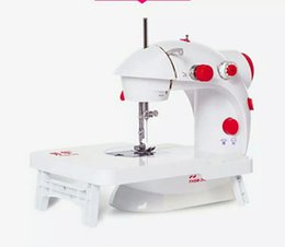 jacquard ribbons trims UK - Home Electric Mini Multifunctional Sewing Machine With Original Expansion Platform Accessories Tools