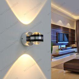 5 colori ad alta potenza 6 W doppie estremità LED luce scale sfondo applique da parete lampada soggiorno lampade da comodino per la casa apparecchio moderno da