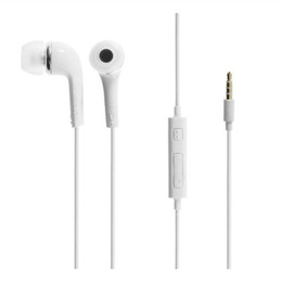 Wholesale Headphones Galaxy Note - Headphones In-Ear Earphone with Mic and Remote Stereo 3.5mm Headset for Samsung Galaxy S9 S8 S7 s6 plus edge note i 200pcs